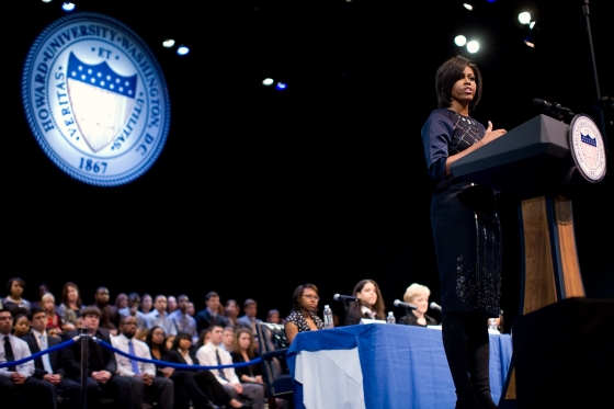 Michelle Obama @ Howard Official White House Photo by Lawrence Jackson