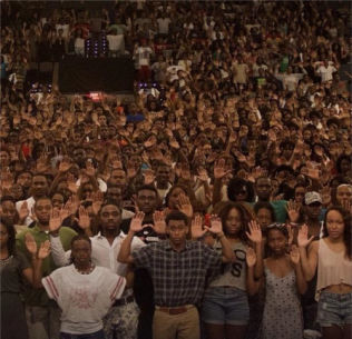 Hands Up, Don't Shoot Image for Michael Brown Photo Credit: Ikenna Ikeotuonye