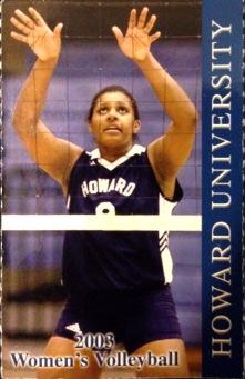 2003 Volleyball Schedule Card